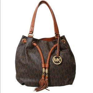 Michael Kors Jet Set Fringe Tassel Brown Bag